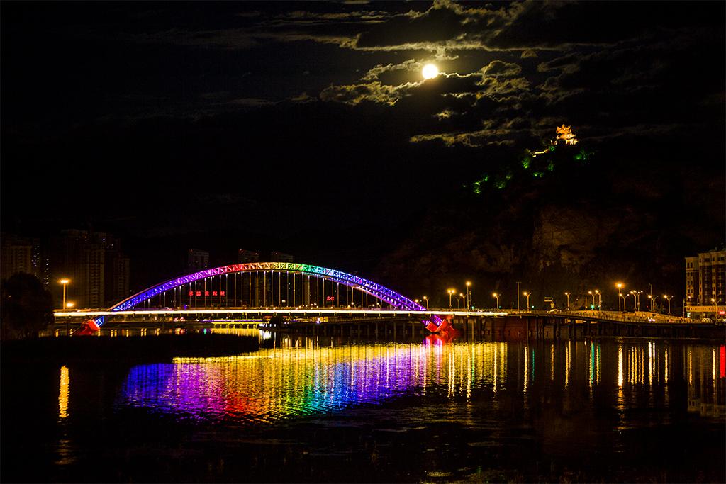 D本市风光-月圆彩虹9
