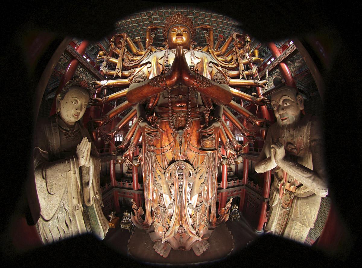 铜质收藏品-千手千眼观世音菩萨-李龙-承德