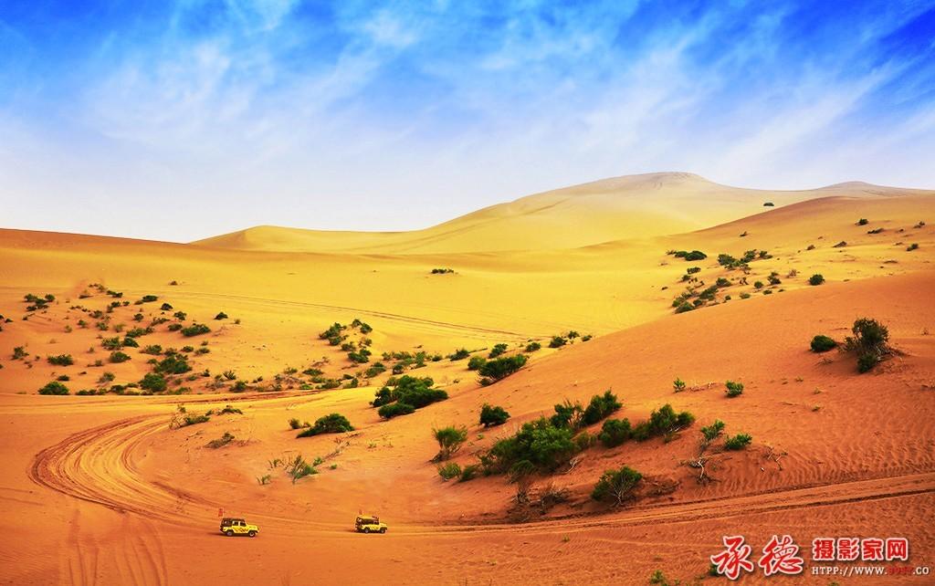 95、走进宁夏,腾格里沙漠一瞥-平静如水