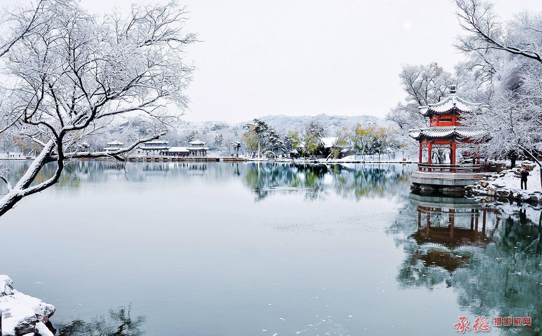 53.山庄映雪-夕阳如虹